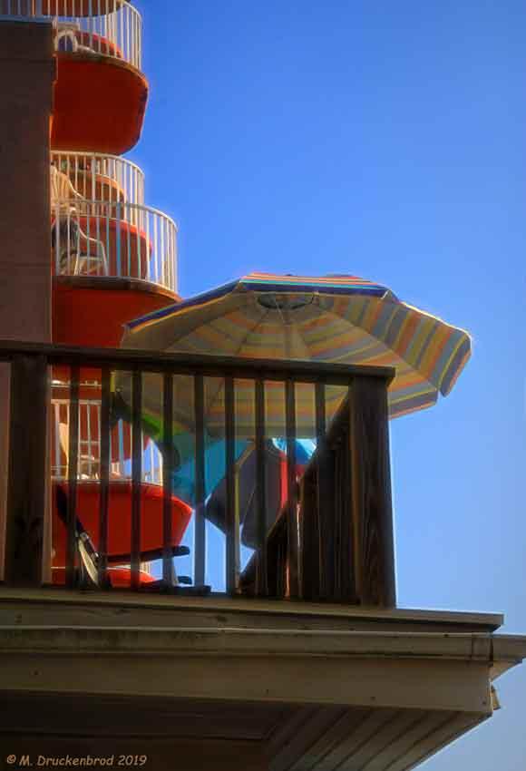 Balconies and Umbrellas
