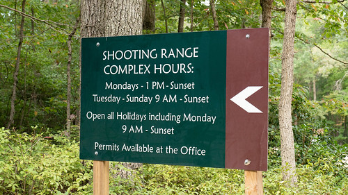 Photo of shooting range complex sign at Elk Neck State Forest