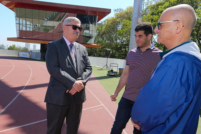 Centro de Treinamento Paralímpico - Visita do secretário Décio Brasil