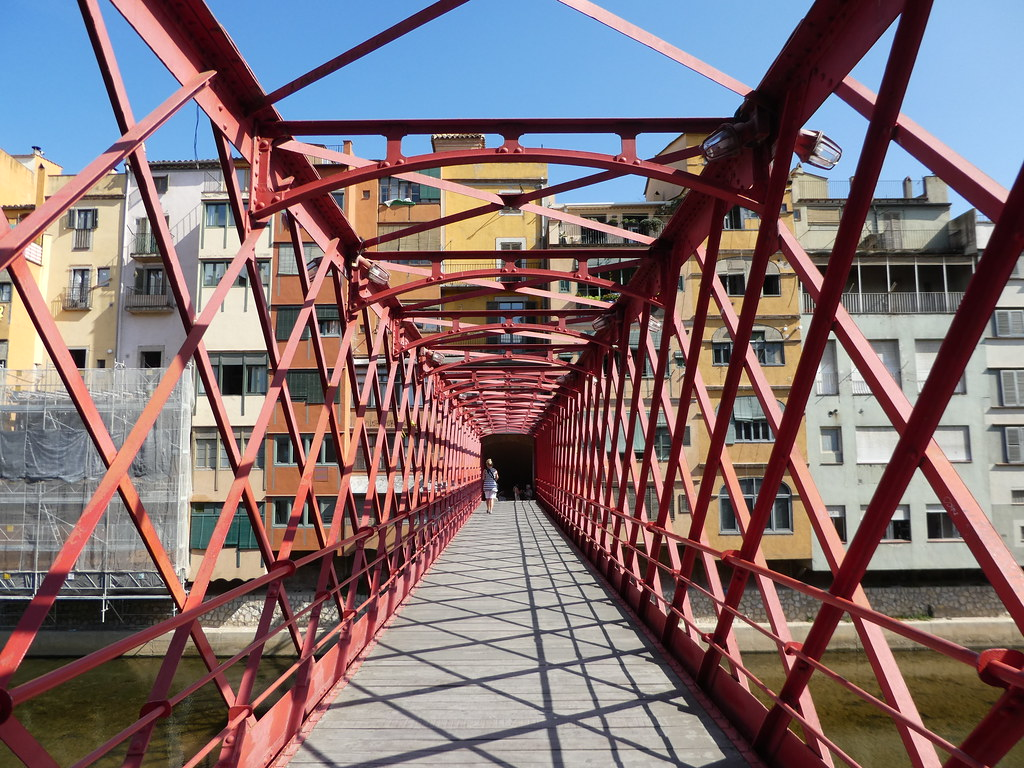 The Eiffel Bridge in Girona