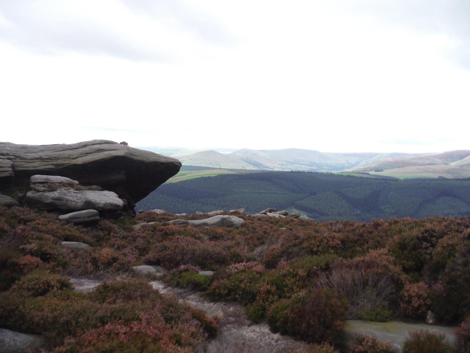 Great Ridge and Edale, from near Dovestone Tor SWC Walk 348 - Ladybower Inn Circular (via Derwent Edges and Strines)