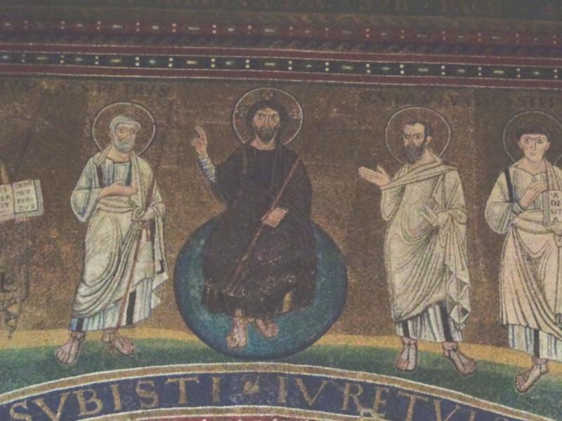 022-Христос с  апостолами Петром и Павлом
