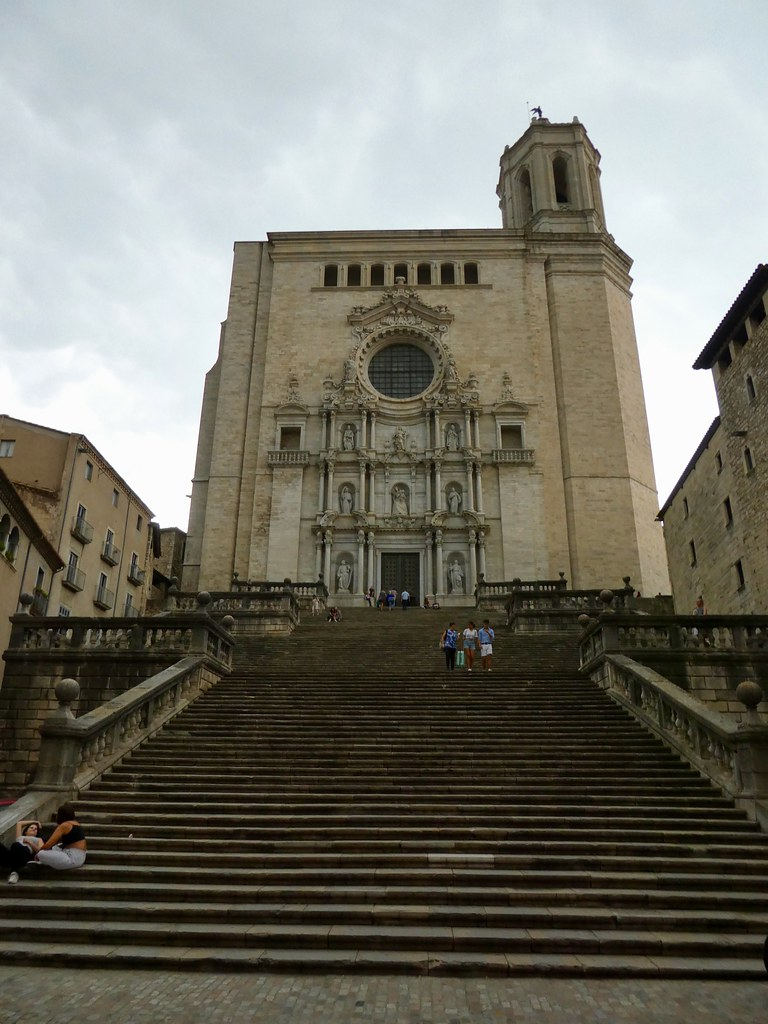 Steps leading to the entrance of Girona Cathedral