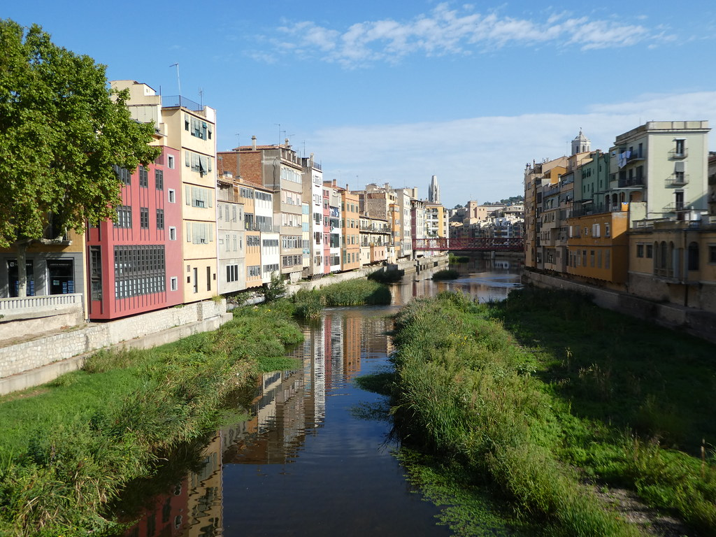 Onyar riverside in Girona