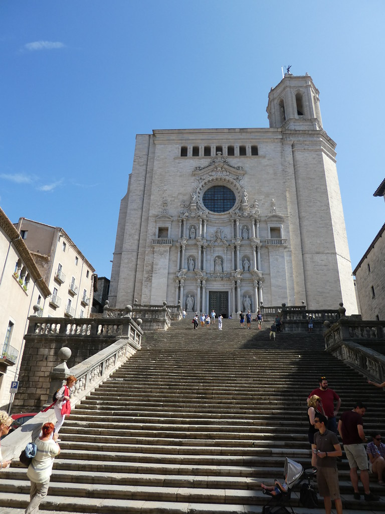 Steps leading to Girona Cathedral