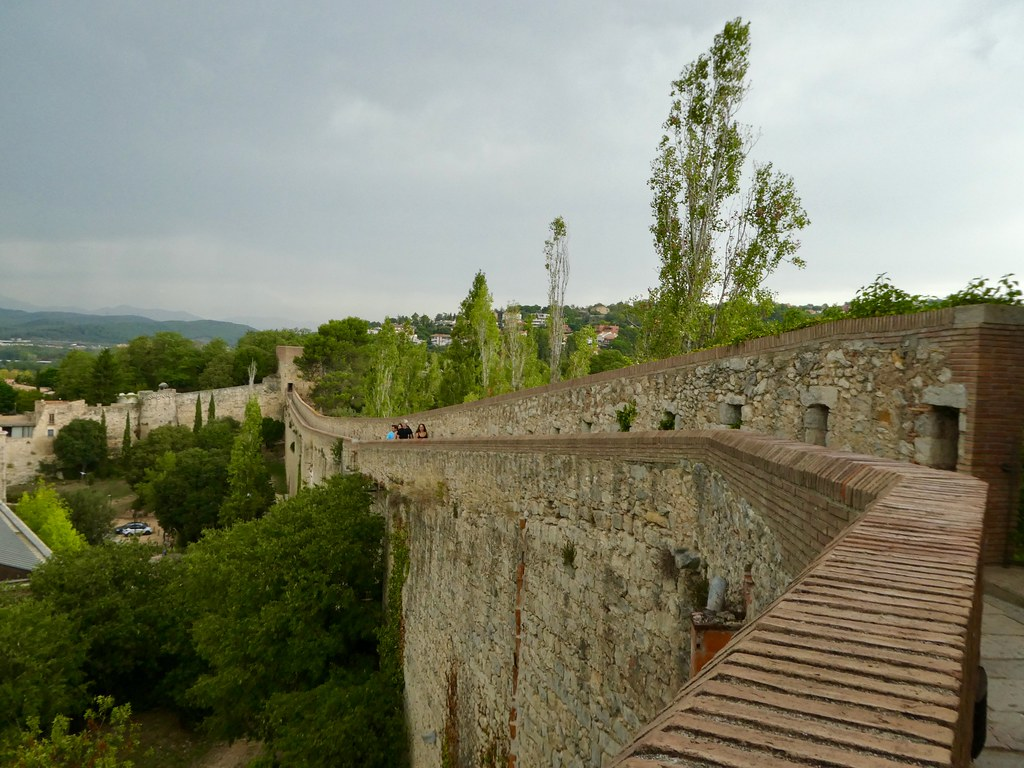 The old city walls of Girona