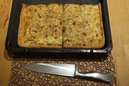 Zwiebelkuchen (aufgebackener Rest)