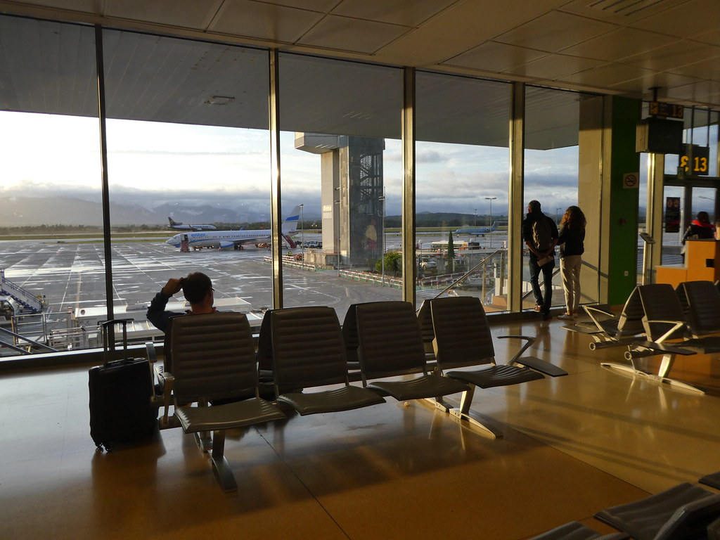 The airside departure lounge at Girona Airport