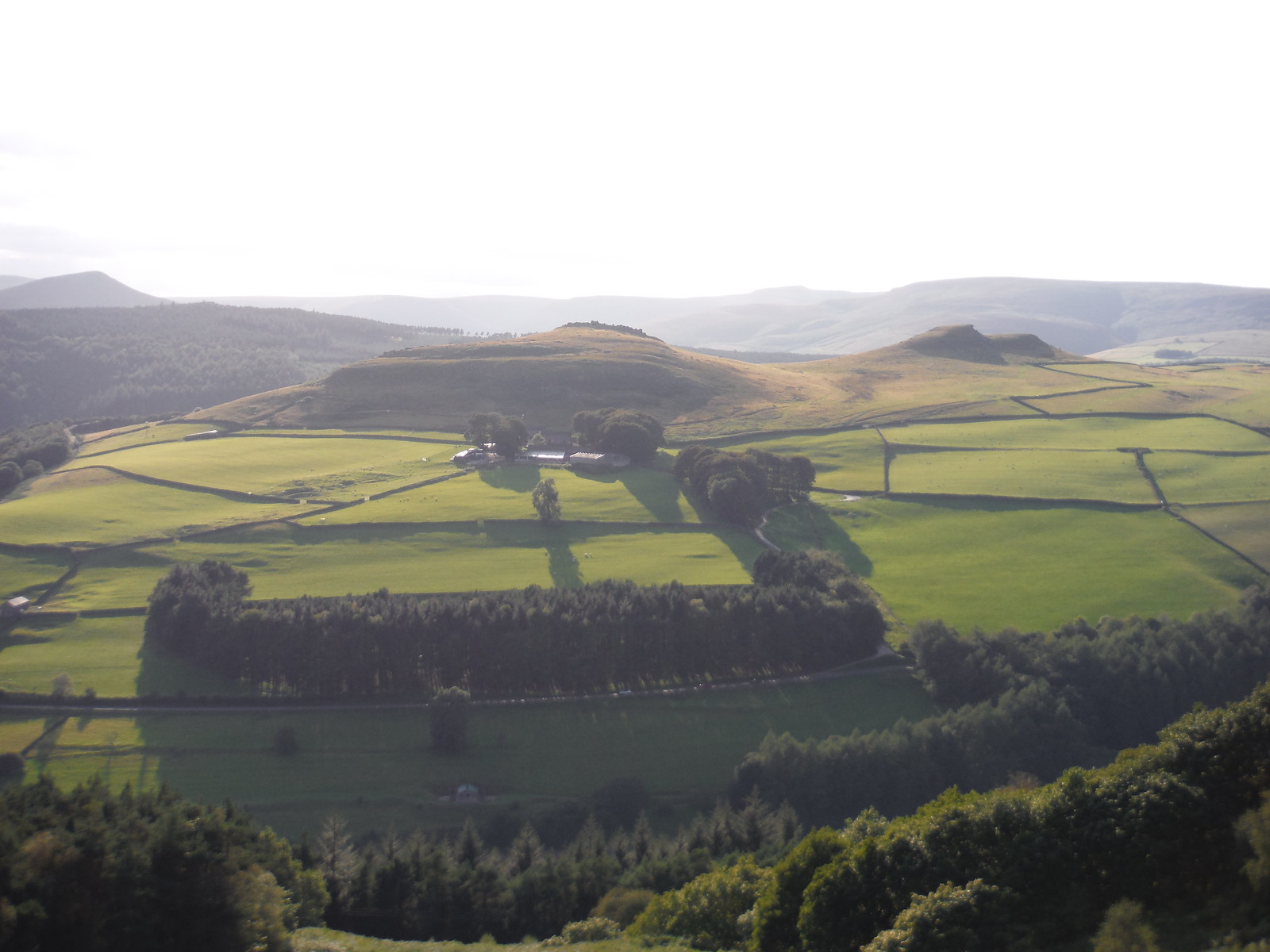 Evening View of Crook Hill Twin Tops and the rim of Edale SWC Walk 348 - Ladybower Inn Circular (via Derwent Edges and Strines)