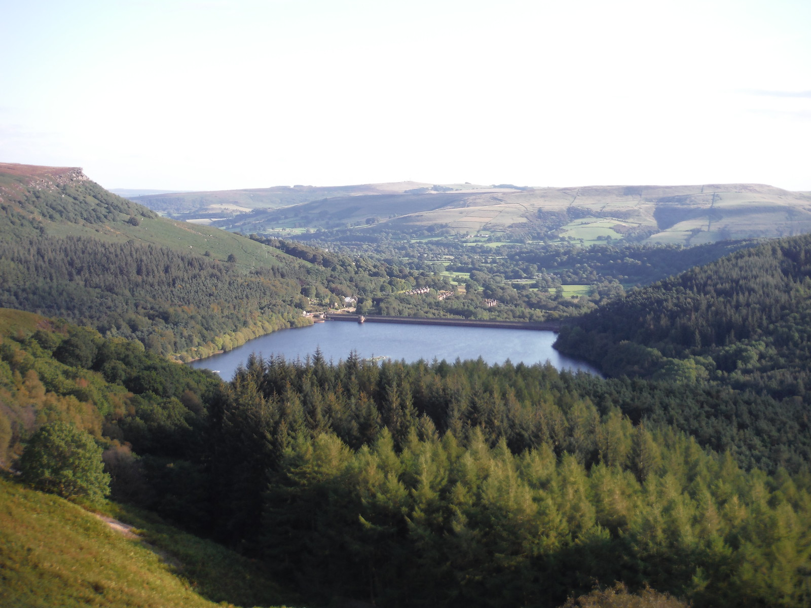 Ladybower Dam, Yorkshire Bridge, Hope Valley, Shatton Edge/Offerton Moor SWC Walk 348 - Ladybower Inn Circular (via Derwent Edges and Strines)