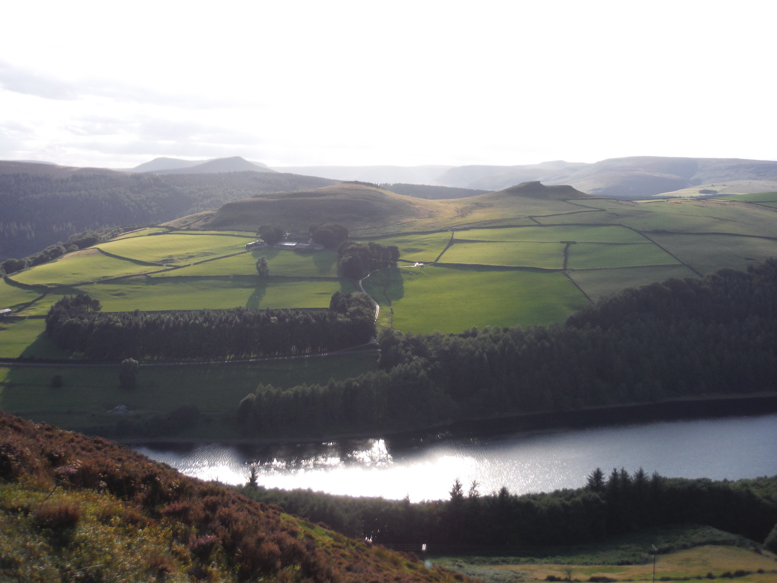 Crook Hill Twin Tops and Edale Beyond, from Lead Hill SWC Walk 348 - Ladybower Inn Circular (via Derwent Edges and Strines)