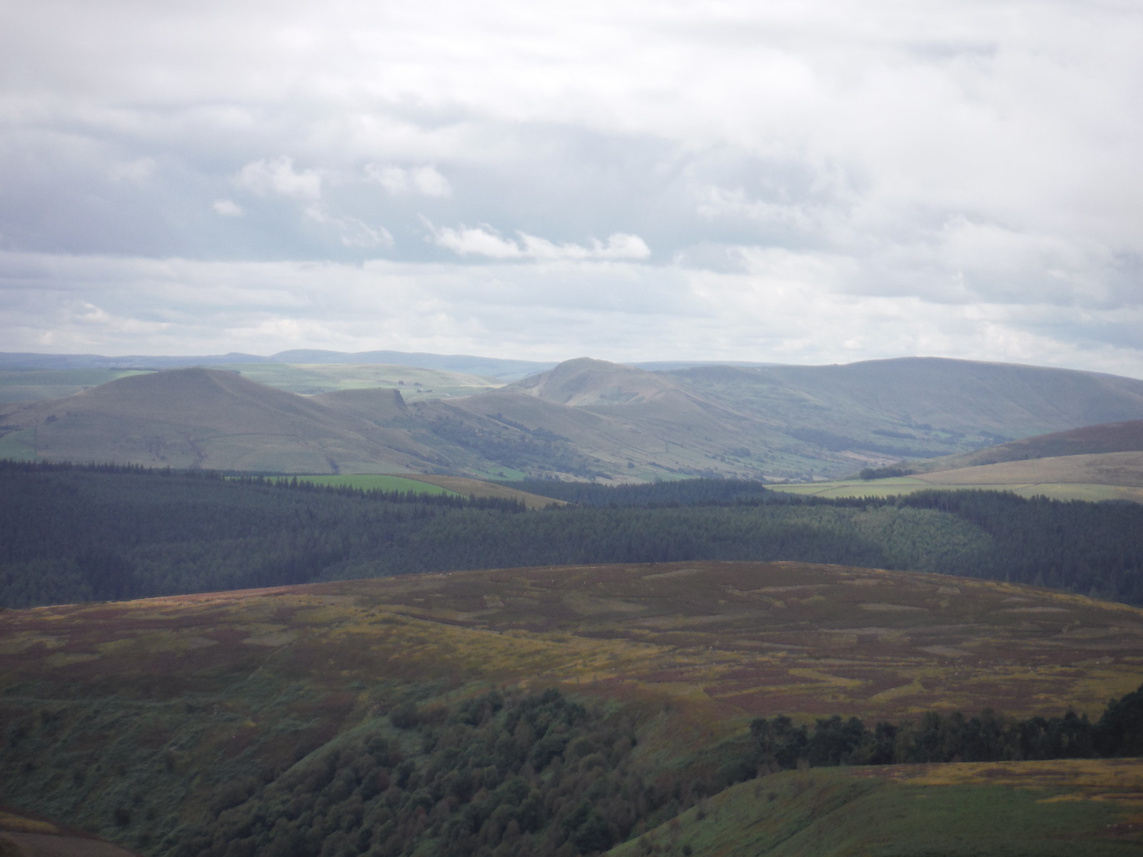 Great Ridge and Edale, from Lost Lad SWC Walk 348 - Ladybower Inn Circular (via Derwent Edges and Strines)