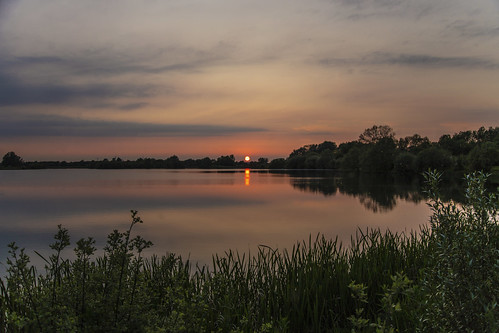canon6d sunset landscape sun waterscape nature outdoors outside lake water reflections clouds sky uk cambridgeshire
