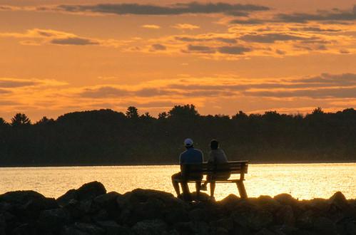 sunset coucherdesoleil marina aylmer banc reflets amoureux nature ciel fabuleuse