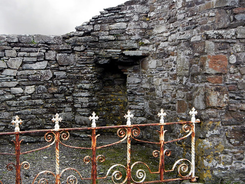 A rusted gate at Timoleague Friary in Ireland