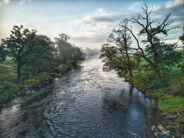 Looking down the Lune