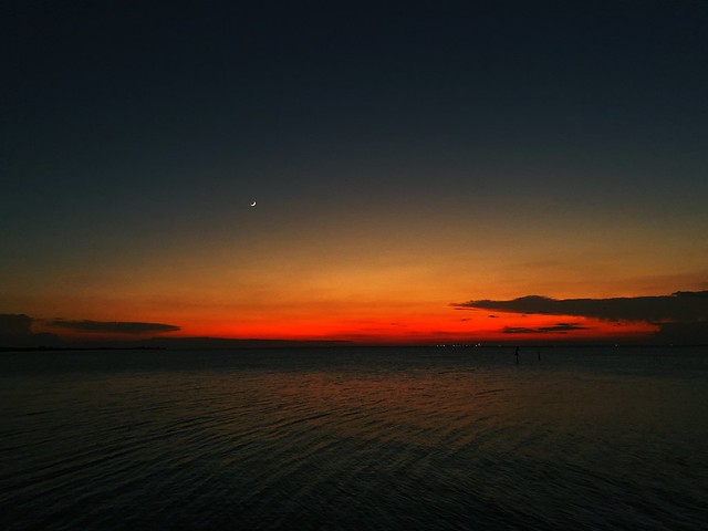 (New) Moon (Tampa) Bay At Magical Florida Sunset - IMRAN™