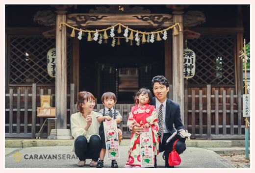双子の兄弟の七五三 深川神社(愛知県瀬戸市)