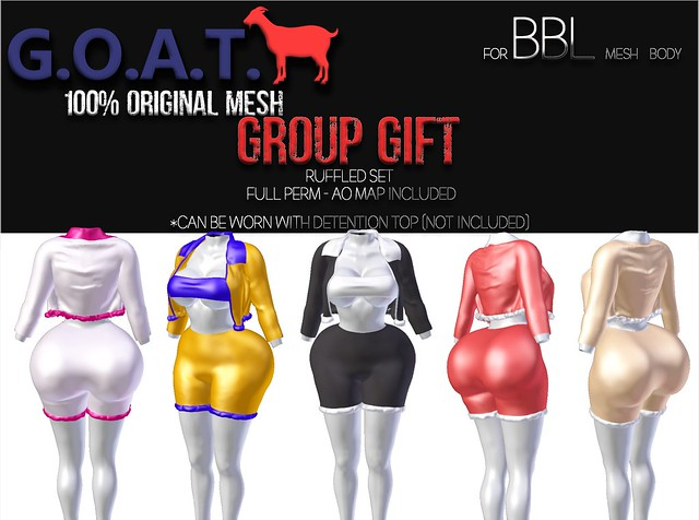 G.O.A.T. BBL RUFFLED SET GROUP GIFT