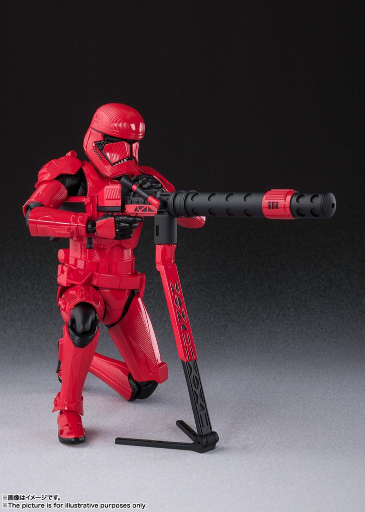 各式武器陣容讓人又想徵兵啦! S.H.Figuarts《STAR WARS:天行者的崛起》西斯士兵 シス・トルーパー (STAR WARS: The Rise of Skywalker)