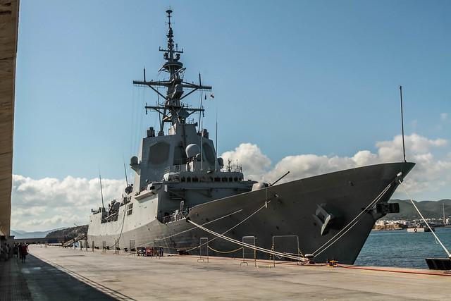 F 102 Almirante Juan de Borbon    - atracada ewn el puerto de Ibiza -