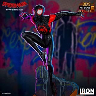 背負起重責大任的年輕蜘蛛人登場! Iron Studios Battle Diorama 系列《蜘蛛人:新宇宙》邁爾斯·摩拉斯 Miles Morales 1/10 比例決鬥場景雕像