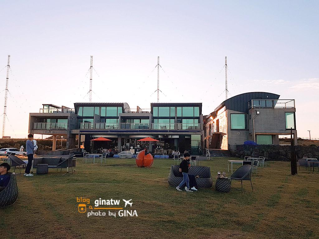 【濟州島海岸咖啡廳】城山日出鋒旁|韓妞必拍天國的階梯(천국의계단)The Cloud Hotel Pool& Spa @GINA LIN