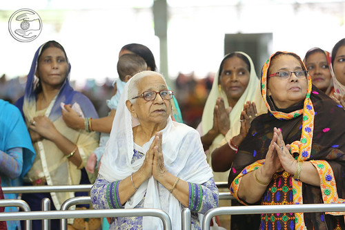 Devotees seeking blessings for welfare