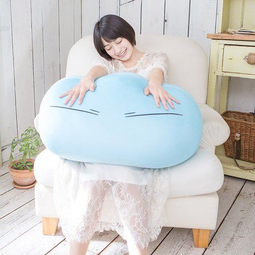 BANDAI《關於我轉生變成史萊姆這檔事》利姆路史萊姆型態60公分巨型抱枕( ハイパーメガぬいぐるみ リムル様)【PB限定】