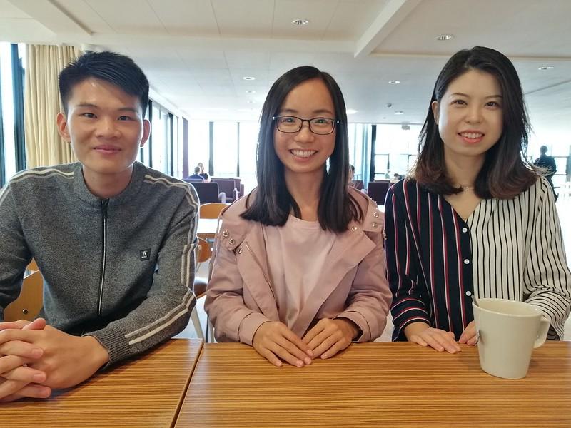 Bath - CSC Scholars sat at a table