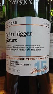 SMWS 9.168 - Cedar bigger picture
