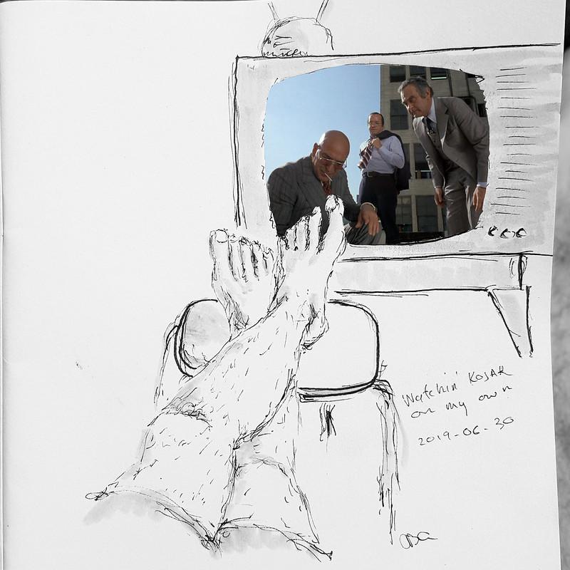 Watching Kojak on my own