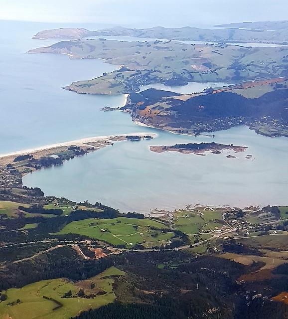 Paysage de Blue Skin Bay et Otago Peninsula