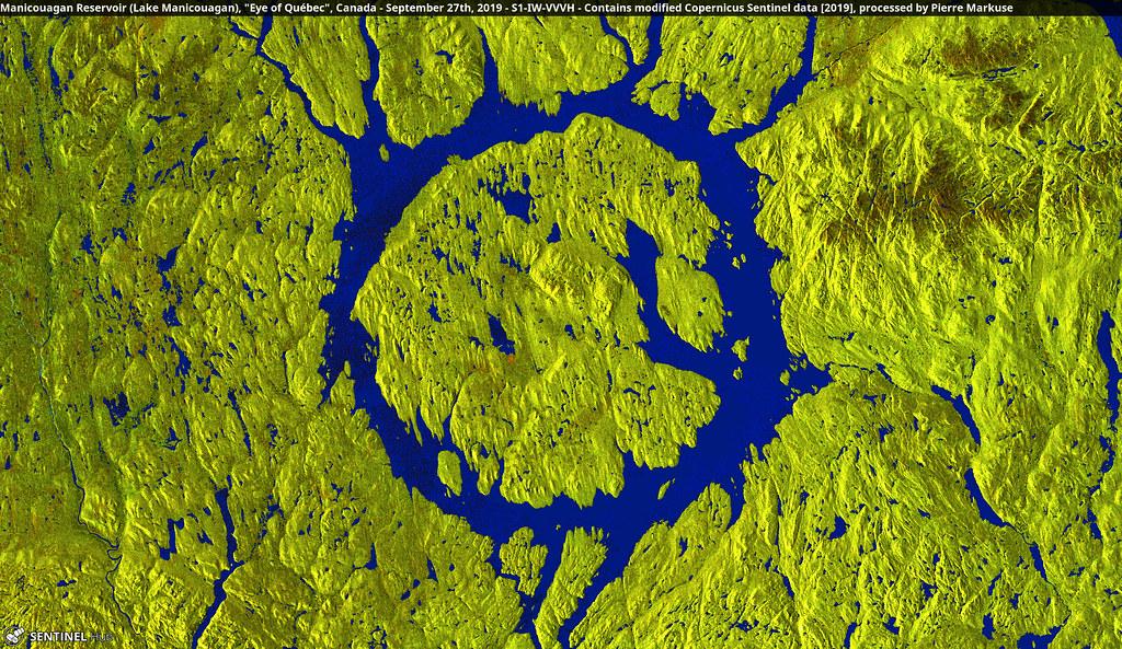 "Manicouagan Reservoir (Lake Manicouagan), ""Eye of Québec"", Canada - September 27th, 2019"