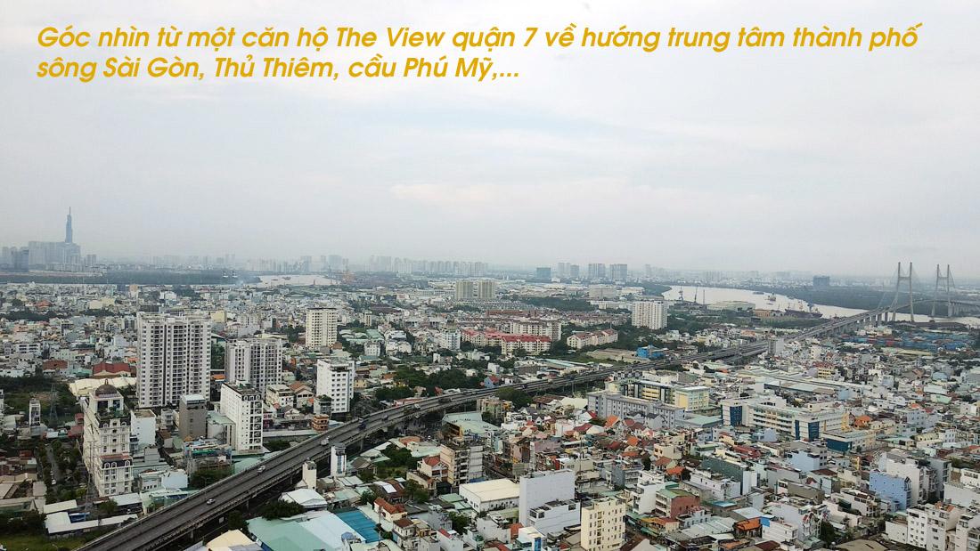 Góc nhìn về trung tâm thành phố từ căn hộ The View quận 7.