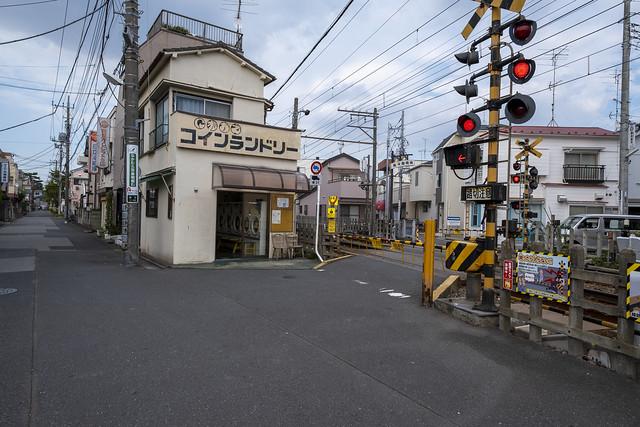 Tokyo.葛飾区柴又 京成高砂第6踏切道