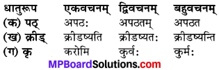 MP Board Class 6th Sanskrit Model Question Paper 2