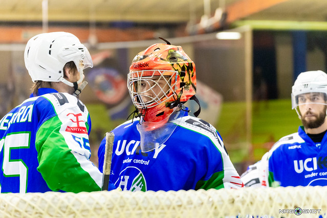Goalie Nicola Zamporlini Hockey club Chiavenna