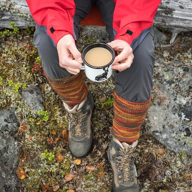 Coffee break in the woods
