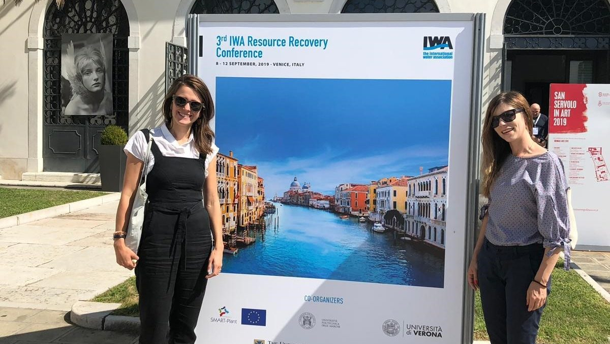 Olivia Bailey at the 3rd IWA Resource Recovery (IWARR) Conference in Venice, Italy.