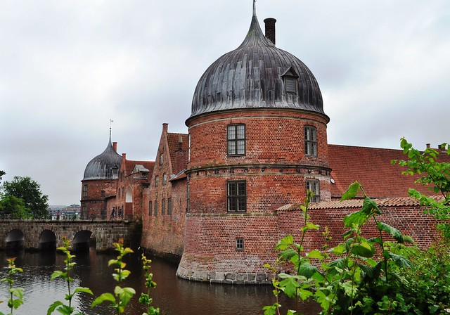 Barbacane (1562), château de Frederiksborg (XVIe-XVIIe), Hillerød, Sélande, Danemark.