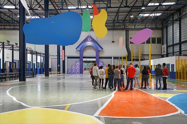 L'entrée de la 15è Biennale d'art contemporain (usines Fagor, Lyon)