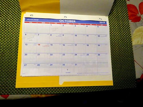 October 2019 Diary