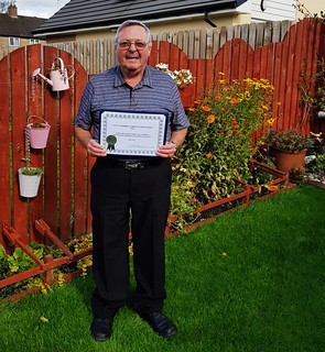 Me with Certificate Joint Runner Up private garden Irvine Kilmarnock Central and South