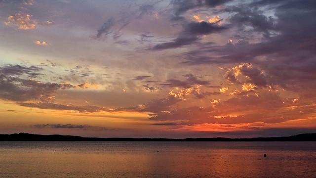 Fall sunrise, Bear Lake, Michigan