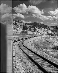 Train Through Mountains by Bob Briggs HM Monochrome Prints Sept. 2019