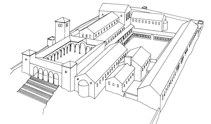 13 План монастыря Монте-Кассино