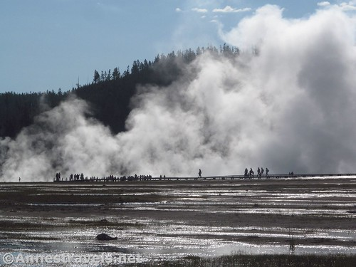 Views from the old road toward the Grand Prismatic Spring - looks apocalyptic to me! Yellowstone National Park, Wyoming