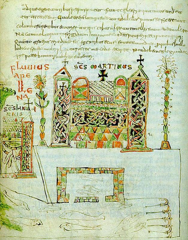 09 Изображение Вивария из Бамбергской рукописи  VIII в