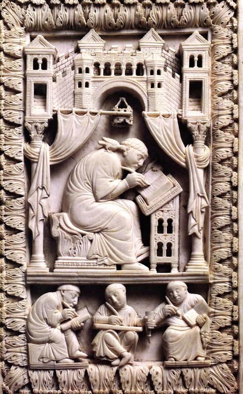 23 Св. папа Григорий Двоеслов в скриптории. 968-980 г